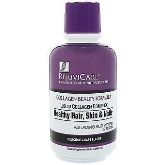 Rejuvicare, Formule de beauté de collagène, complexe de collagène liquide, cheveux sains, peau