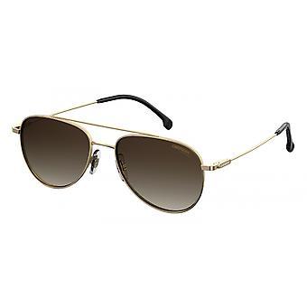 Sunglasses Unisex 187/S gold with brown glasses medium