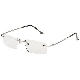 Reading Glasses Unisex Libri_x Modern Silver Thickness +1.50