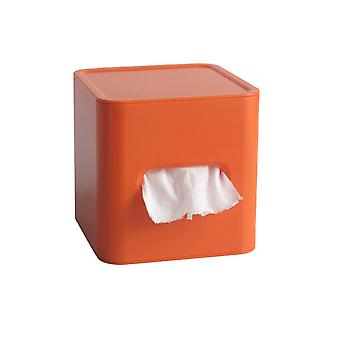 Plastic Seat Type Household Round Roll Paper Drawer Orange