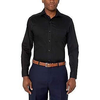 BUTTONED DOWN Männer's Classic Fit Stretch Twill Non-Iron Kleid Shirt, schwarz, 15...