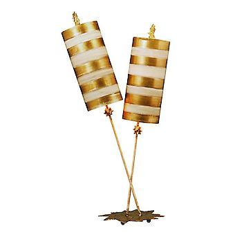 Elstead Nettle Luxe - 2 Lampe de table légère Feuille d'or, Taupe, E27
