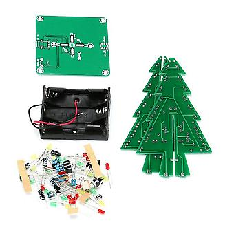 3d Christmas Tree Led Kit Flash Circuit Parts Electronic Funny Suite