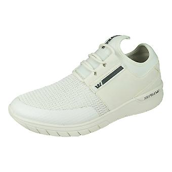 Supra Flow Run Mens Casual Trainers / Shoes - Off White