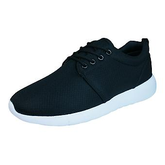 DT New York Womens Lace Up Trainers / Shoes - Black
