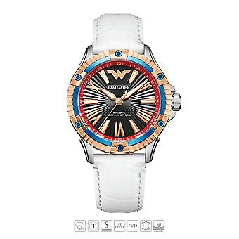 Luxe Automatique Analog Justice League Wonder Woman Watch pour Femme 03