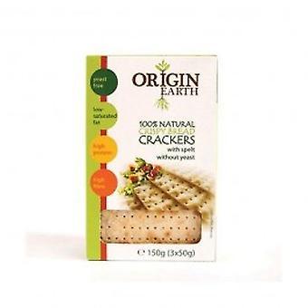 Terra de origem - levedura livre Crackers com espelta
