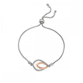 Hot Diamonds Harmony hvit Topaz armbånd rose gull DL591