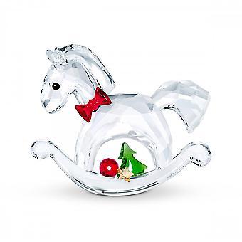 Swarovski Rocking Horse Happy Holidays Crystal Ornament 5544529