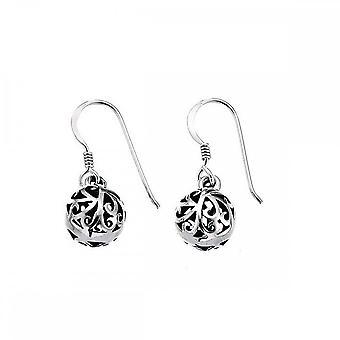 Beginnings Sterling Silver E437 Filigree Ball Earrings