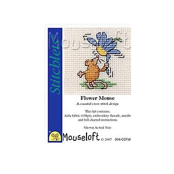 Flower Mouse Stitchlets Counted Cross Stitch Kit
