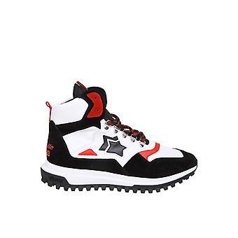 Atlantic Stars Polluxnbnnch03 Männer's Weiß/schwarz Leder Hi Top Sneakers