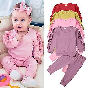 Vauvan sleep vaatteet, pitkähihainen, collegepaita t-paita, housut