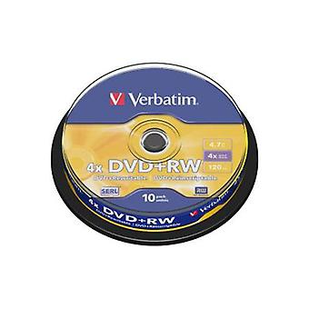 Verbatim Dvd Rw 4.7Gb 10Pk Spindle 4X