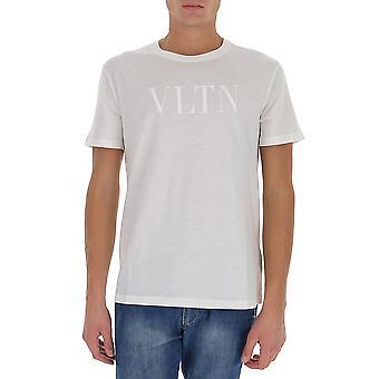 Valentino Uv0mg10v6yhiv4 Men's White Cotton T-shirt