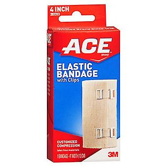 Ace Elastic Bandage With Clips, 4 inches 1 each