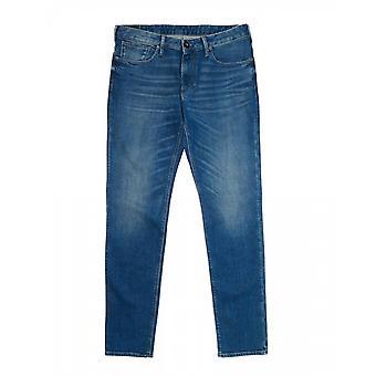 Emporio Armani Slim Fit Blue Jeans