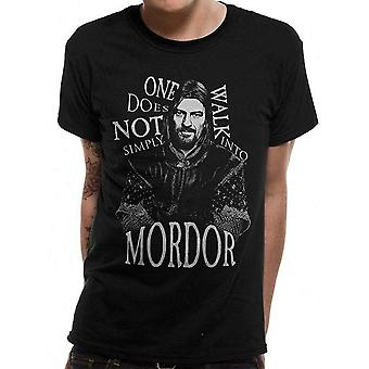 Lord Of The Rings Unisex Adults Walk Into Mordor Design T-shirt