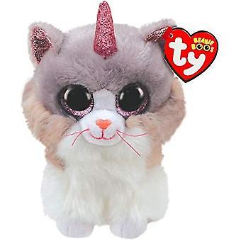 TY Beanie Buddy Asher, o Gato Com Chifre - Médio 24 cm