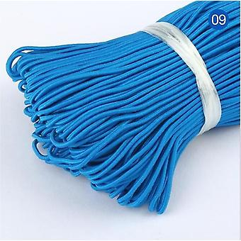 10 Yards 1.5mm Colorful High Quantity Round Hair Elastic Rope