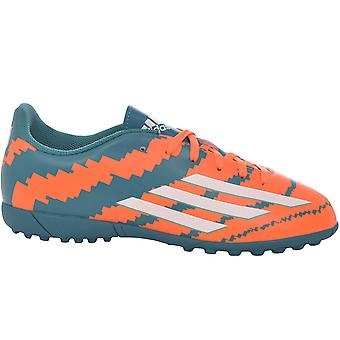 adidas Performance Kids Messi 10.4 Turf Football Boots Trainers - Orange/Teal
