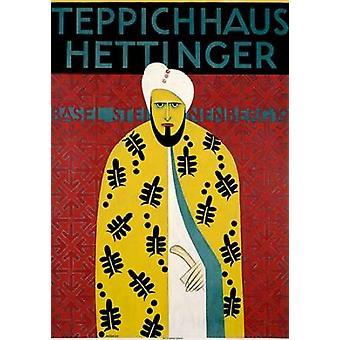 Teppichhaus Hettinger affisch Skriv av Otto Morach