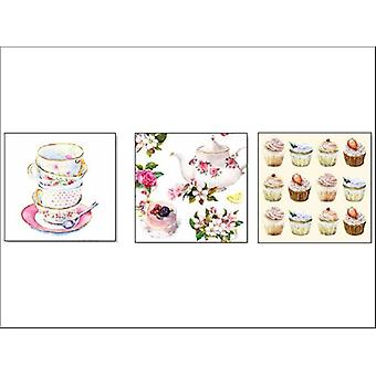 Essential Napkins 3Ply 33 x 33cm Assorted x 20 NP33AN