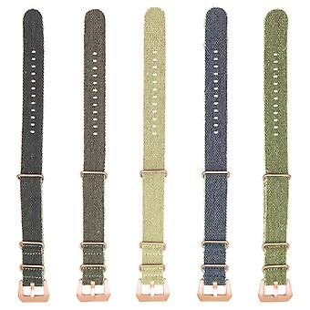 Strapsco dassari shred frayed canvas n.a.t.o strap with rose gold hardware