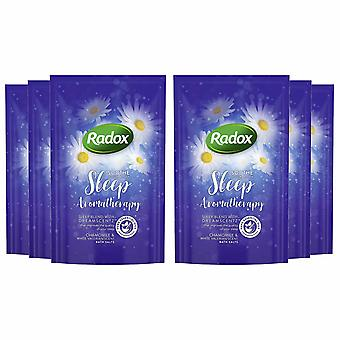 Radox Chamomile & Valerian Scent Aromatherapy Bath Salt, 6 Packs of 900g