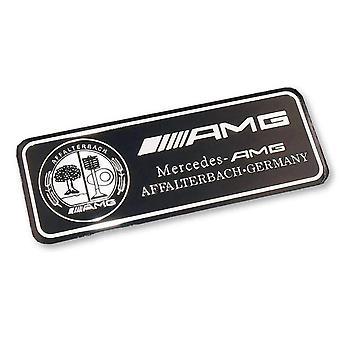 Black Mercedes AMG Affalterbach-Germany Badge Emblem 80mm x 30mm