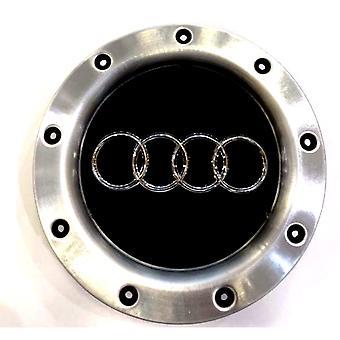 Black/Silver Audi Wheel Center Cap Hub Badge 145mm 1 PCS For TT A1 A3 A4 A5 A6 A7 A8 Q7