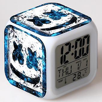 Colorful Multifunctional LED Children's Alarm Clock -Marshmello #12