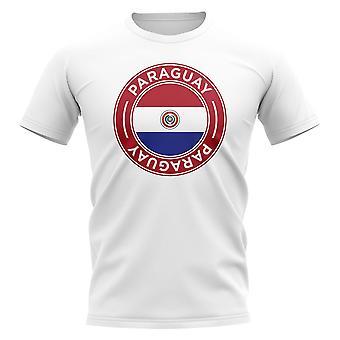 Paraguay Jalkapallo Merkki T-paita (Valkoinen)