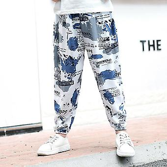 Children Pants Anti-mosquito Printed Harem Pants/kids Joggers/teenager Trousers