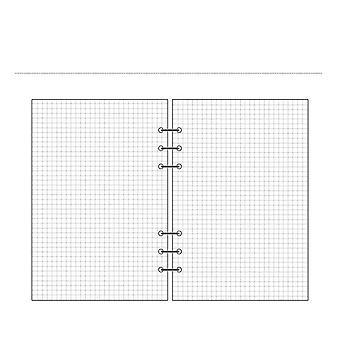 A5 A6 Spiral Gennemsigtig Pvc Notebook Cover, Loose Dagbog Coil Ring Binder