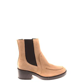 Tod's Ezbc025168 Women's Brown Suede Ankle Boots