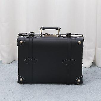 Pu Leather Suitcase Carry On Luggage Bag Ultralight Cosmetic Case