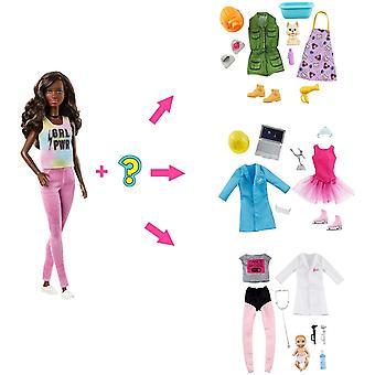 Barbie meglepetés baba barna 2 karrier néz ki, és kiegészítők Docka
