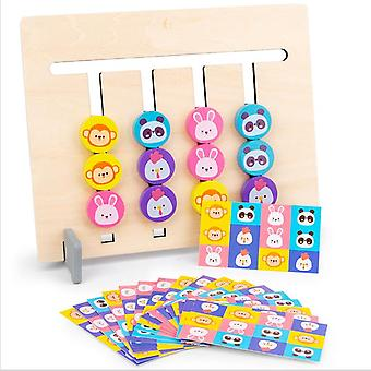 Four-color Fruit Animal Logic Game 0.3 Double-sided Children's Educational Toy Suitable For Ages Above 12 Months
