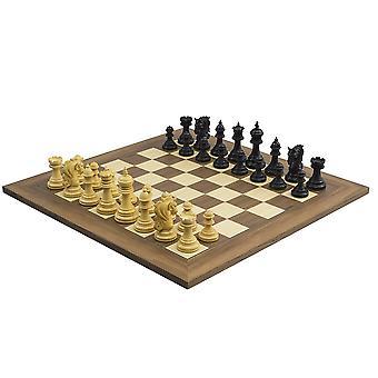 The Kingsgate Ebony and Walnut Chess Set