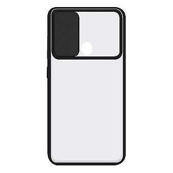 Mobiltelefon sag med TPU Edge Samsung Galaxy A21 KSIX Duo Soft Cam Beskyt Sort