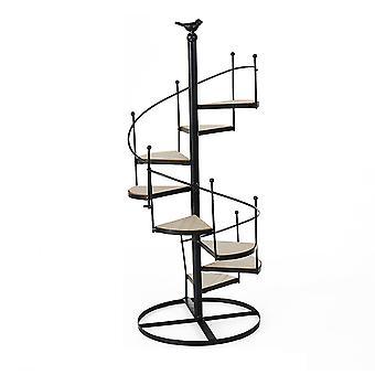 Multi Tier Eisen Pflanze Stand, Schmiede eisen Blumentopf Stand für Wohnzimmer Patio Balkon Garten