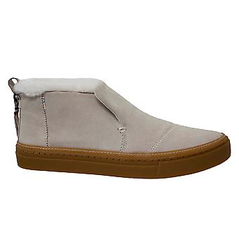 Toms Paxton Water Resistant Birch Suede Faux Fur Womens Slip On Shoes 10012413