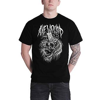 Axewound T Shirt Death Skull Logo zespołu Zombie Official Mens Black