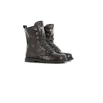 SHOESME Bike Style Laced Boot With Zip