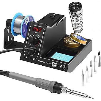 TOPELEK Soldering Iron Station, 60W Professional Soldering Station with Adjustable Temperature