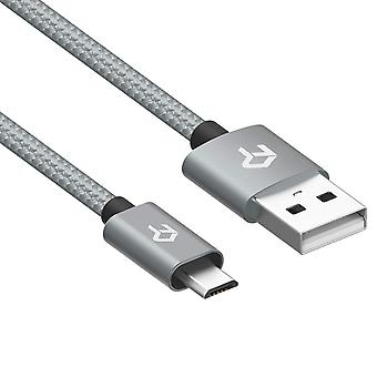 Rankie micro usb cable, nylon braided extremely durable, data and charging, 1.8 m