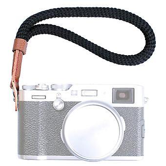 Vko black cotton camera hand wrist strap compatible with fujifilm x-t30 x-t4 x-t3 x-t20 x-t2 x70 x-p