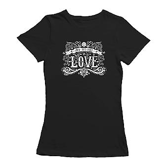 All You Need Is Love Hand Drawn Vintage Illustration T-shirt By Shutterstock
