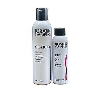 Keratin Complex Clarifying Shampoo 8 OZ & Express Blow Out Treatment 4 OZ Set